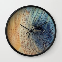 Horse Eye Photography Print Wall Clock