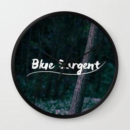 Blue Sargent Wall Clock