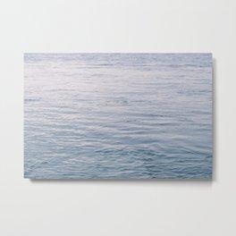 Blue water surface Metal Print