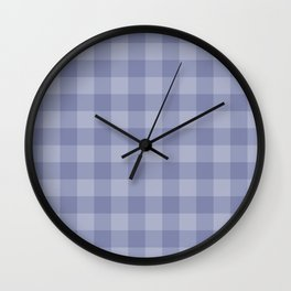 Blue gray simple plaid patterns . Wall Clock