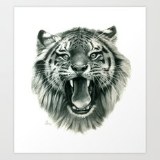 Wicked Tiger G093 Art Print