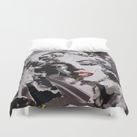 monroe Duvet Covers featuring Monroe by Ross Collins Artist