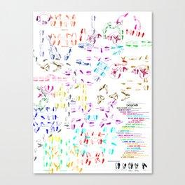 Disco Duck Canvas Print