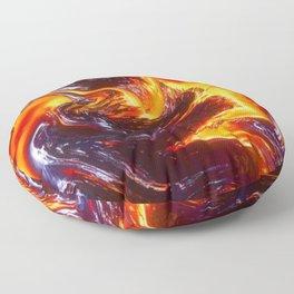 Lava Abstract Art Floor Pillow