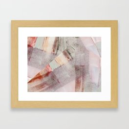 Soft Abstract Painting Framed Art Print