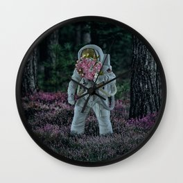 picking up flowers. Wall Clock