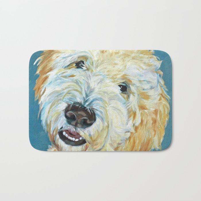 Stanley the Goldendoodle Dog Portrait Bath Mat