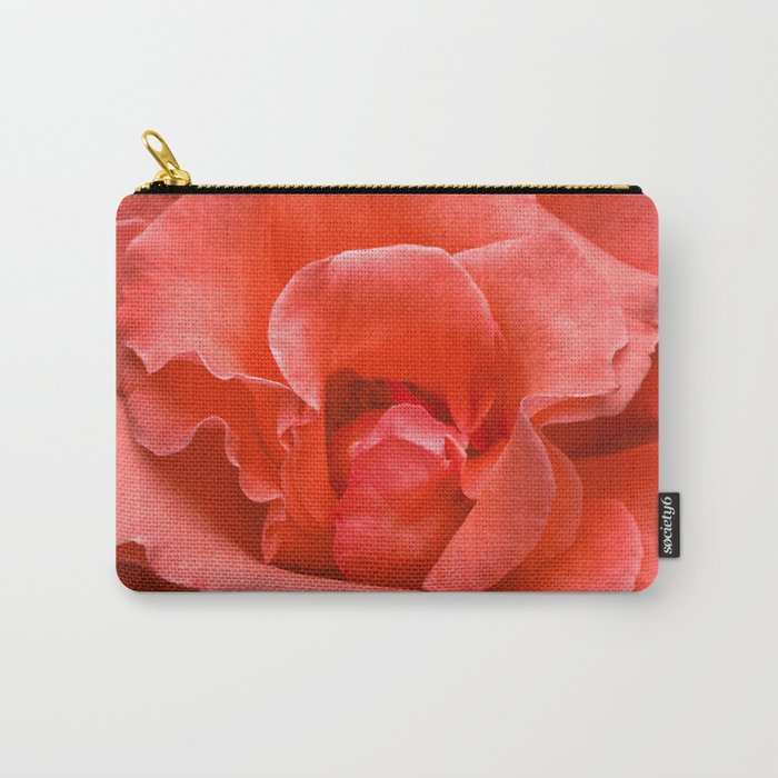Touch of Class hybrid orange rose is blooming Carry-All Pouch