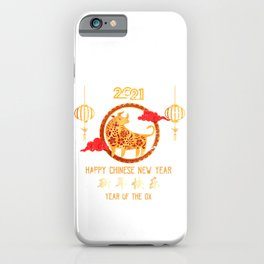 2021 Year Of The Ox iPhone Case