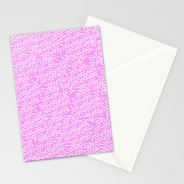 Microchip Pattern (Pink) Stationery Cards