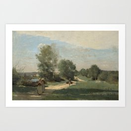 Road by the Water by Camille Corot Art Print