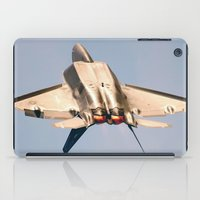 aviation iPad Cases featuring Aviation F-22 Raptor Air Show USAF by Aviator