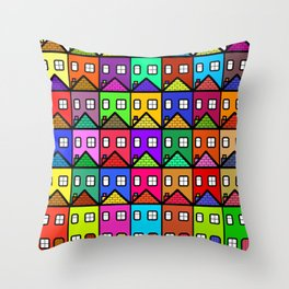 Housing Community Throw Pillow