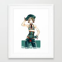 yaoi Framed Art Prints featuring Yaoi Princess Sailor by SpaceMonolith