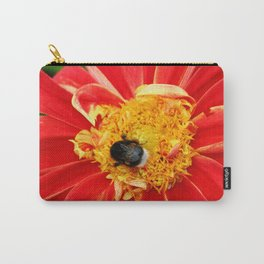Bumble Bee On Dahlia Carry-All Pouch