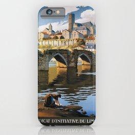 Limoges vintage travel poster iPhone Case