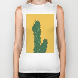 Cactus in Mexico City Biker Tank