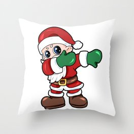santa dab christmas Nicholas Santa Claus Present Gift Throw Pillow