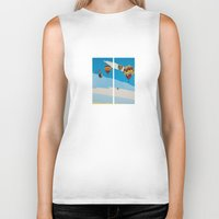 hot air balloons Biker Tanks featuring Hot Air Balloons by Shelley Chandelier