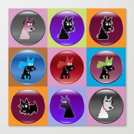Scotties icons Canvas Print