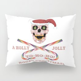 Holly Jolly Roger Xmas Pillow Sham