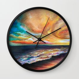 Uncle David's Sunset Wall Clock