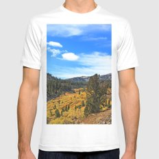 The Top of Tahoe MEDIUM White Mens Fitted Tee