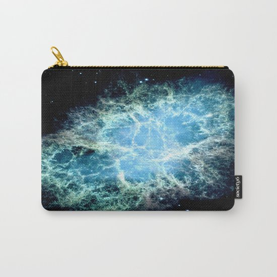Crab Nebula : Aqua Teal Blue Galaxy Carry-All Pouch