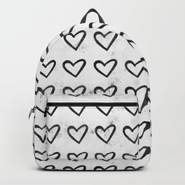Big Heart Ink Pattern Backpack