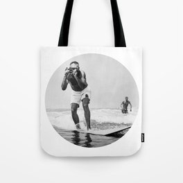 The Surfing Photographer Tote Bag