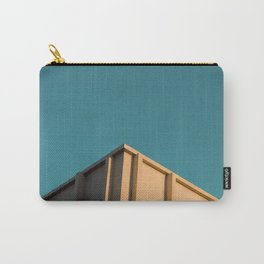 Apogee minimalist print, building look up print, blue sky print Carry-All Pouch