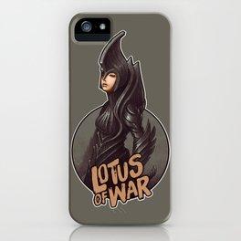 Lotus of War iPhone Case