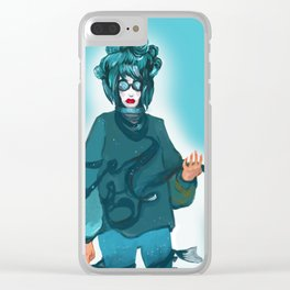 fashionable woman Clear iPhone Case