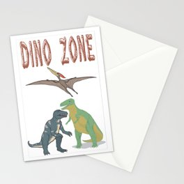 Dino Zone, dinosaurs world, prehistoric Stationery Cards