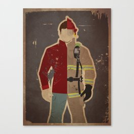 Every Day Hero: Firefighter Canvas Print