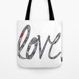 Love Zentangle  Tote Bag