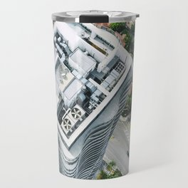 miami downtown aerial view Travel Mug