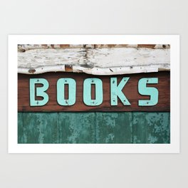 Rustic Aqua Birch Bark Book Art Art Print
