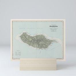 Vintage Madeira Island Map (1904) Mini Art Print