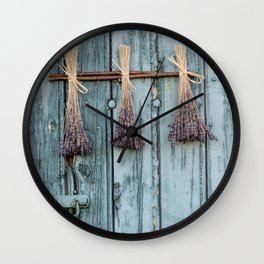Lavender - Summer Provence purple Flower Flowers my love #Society6 Wall Clock