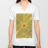 labyrinth V-neck T-shirts featuring Labyrinth by Fractalinear