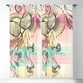Decorative Floral Blackout Curtain