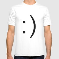 smiley Mens Fitted Tee MEDIUM White