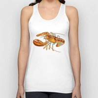 maine Tank Tops featuring Maine Lobster by Tim Jeffs Art