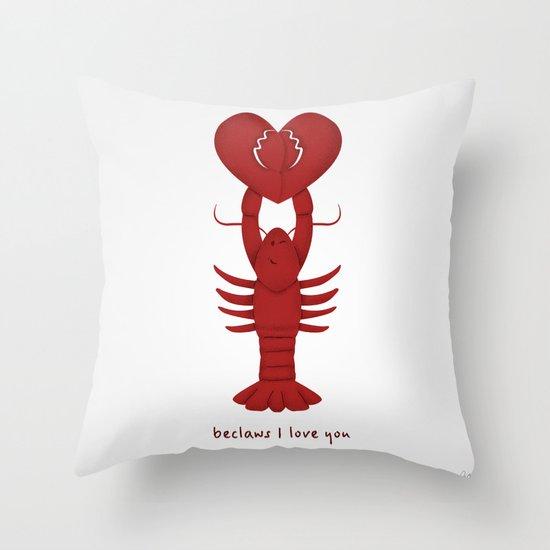 Loving Lobster Throw Pillow