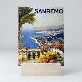 Sanremo vintage poster Mini Art Print