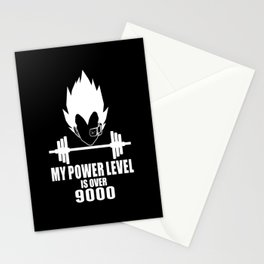 my power level is over 9000 Stationery Cards