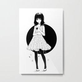 Puzzle girl Metal Print