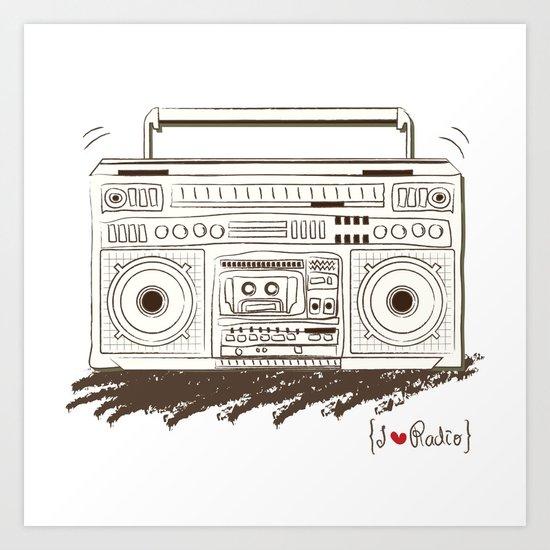 I {❤} RADIO Art Print