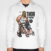 finland Hoodies featuring Thor of Finland (Color Version) by Randy Meeks